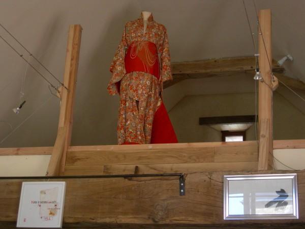 Kimono japonais sur la mezzanine