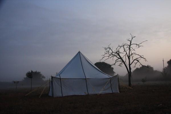Tente berbère au petit matin