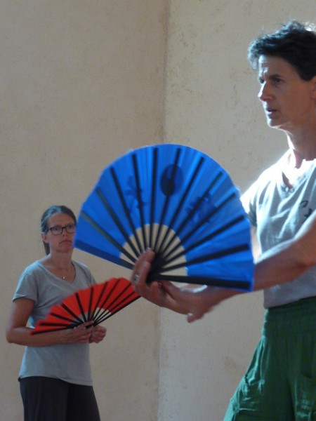 Cours d'enseignement de l'éventail du taiji Quan