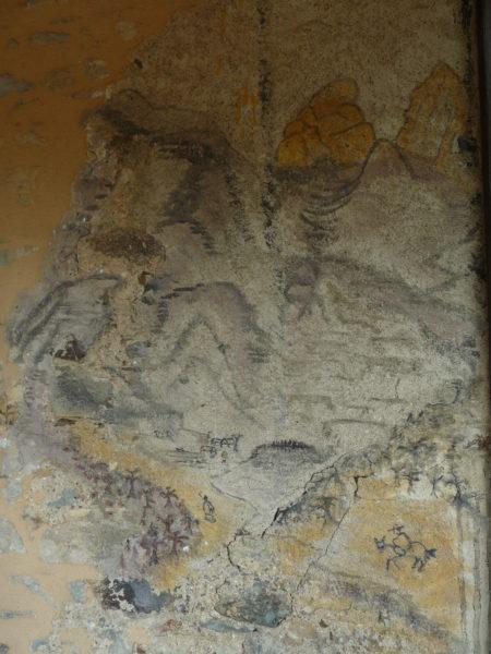 Peinture murale dans le sas
